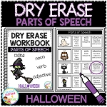 Dry Erase Parts of Speech Workbook: Halloween ~Digital Download~
